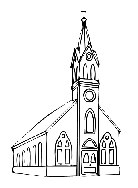 Steeple clipart church doors People here's the the church