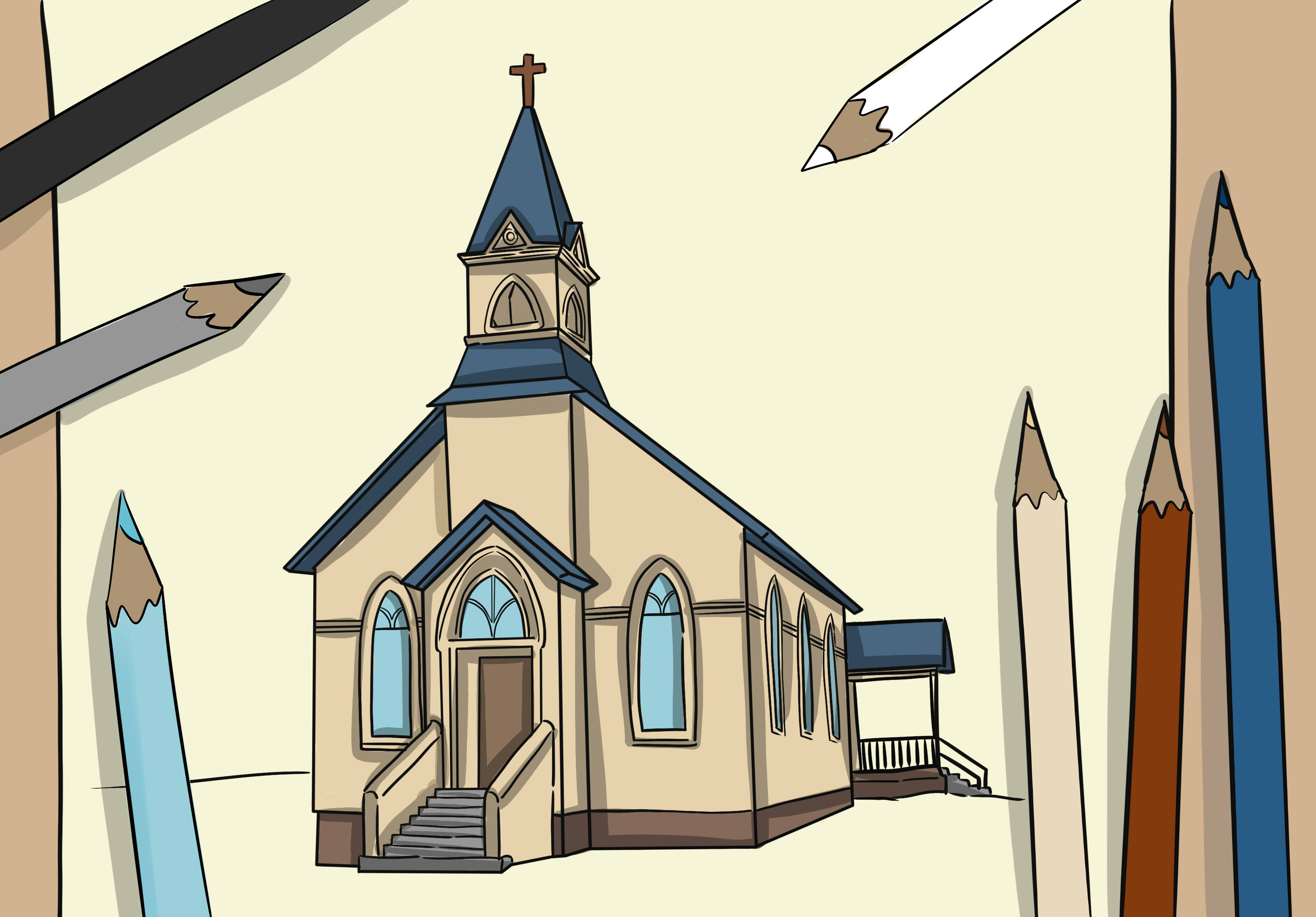 Steeple clipart medieval church Pictures) Draw Church: 8 How