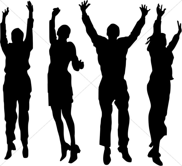 Shadow clipart arm  praise Worship praise sharefaith