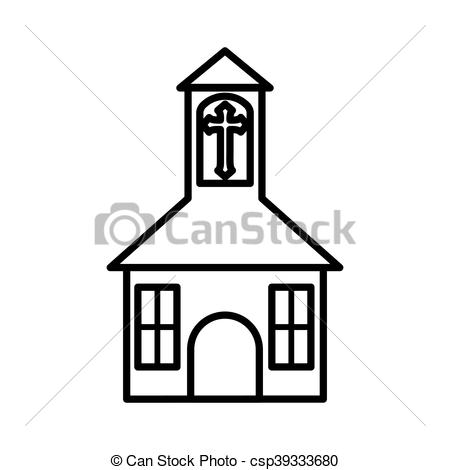Steeple clipart religious Vector church flat church building