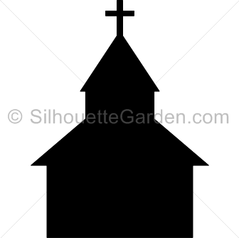 Chapel clipart silhouette Building Silhouette Church Silhouettes