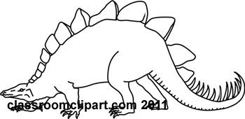 Stegosaurus clipart black and white Outline stegosaurus stegosaurus Clipart jpg