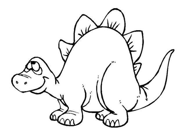Stegosaurus clipart black and white Stegosaurus Stegosaurus Outline Drawing Clipart