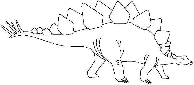 Stegosaurus clipart black and white Kids  Velociraptor dinosaur pictures