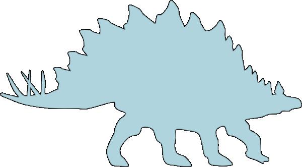Stegosaurus clipart blue As: art vector clip Blue