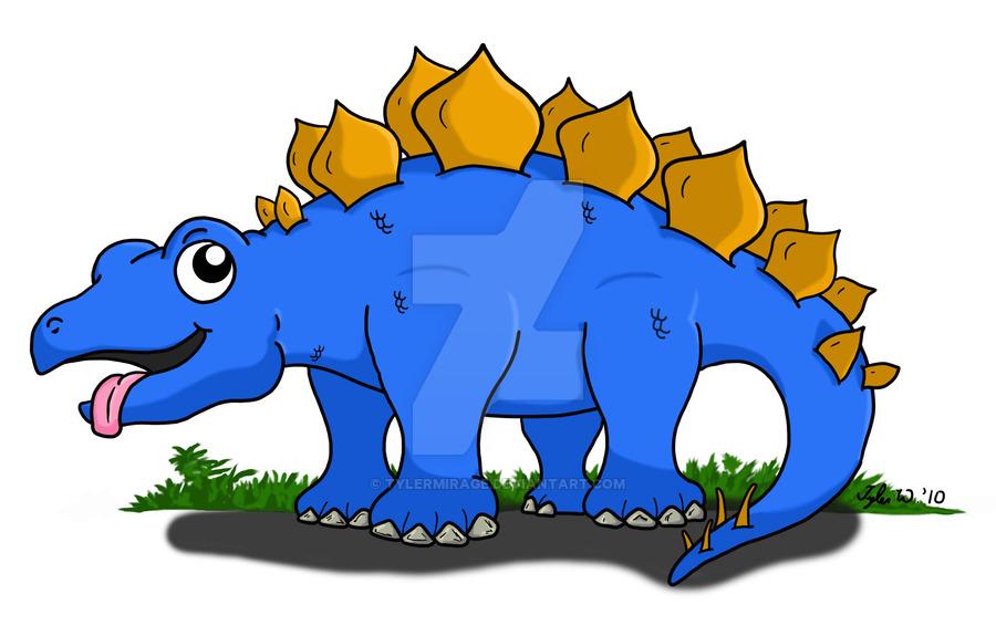 Stegosaurus clipart blue TylerMirage Cute DeviantArt on Stegosaurus