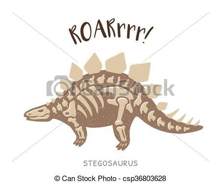 Stegosaurus clipart dinasour Of Vector Vector csp36803628 dinosaur