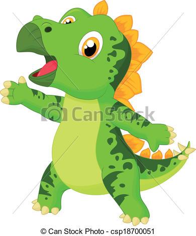 Stegosaurus clipart funny Clipart Cute cartoon Vector of