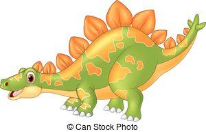Stegosaurus clipart funny Cartoon  funny Stegosaurus smiling