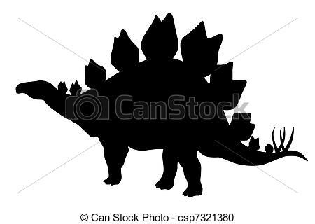 Stegosaurus clipart dinasour Silhouette Stock Stegosaurus of silhouette