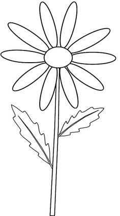 Yellow Flower clipart black and white Colour Pinterest on stem_ and