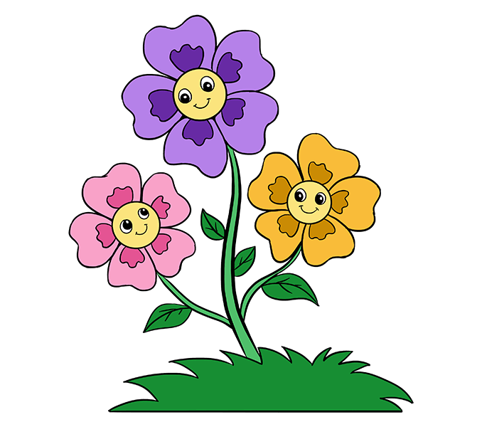 Stem clipart cartoon flower By to How Step 20