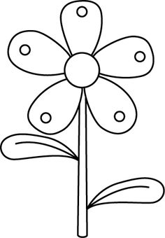 Yellow Flower clipart black and white Clip Pin and clipart more