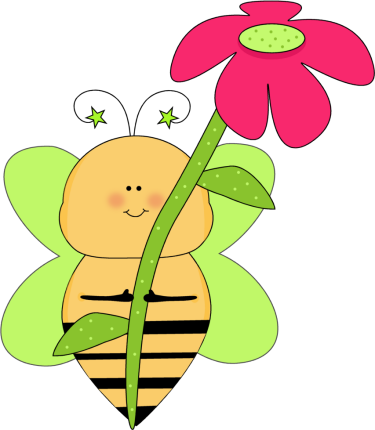 Gallery clipart bee flower Pink Art  library Free