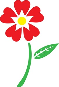 Red Flower clipart stem clipart Clipart With Images Stem Panda