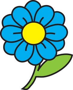 Blue clipart sunflower Art With Clipart collection clipart
