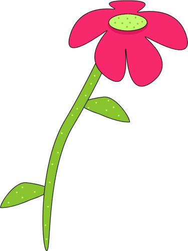Pink Rose clipart stalk Green Droopy Flower Art Pink