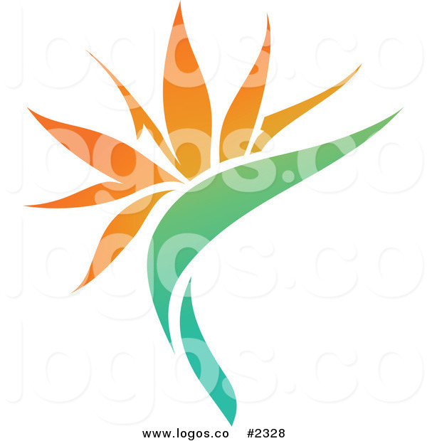 Orange Flower clipart bright flower Bright with Royalty Twisted Royalty