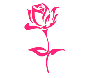 Rose clipart decal #1
