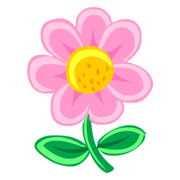 Stem clipart pink green flower Green Facebook pink » Graphics