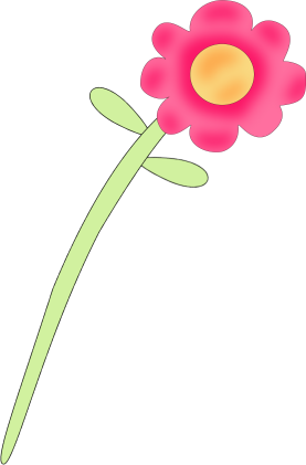 Stem clipart pink green flower Art Flower Images Flower Pink