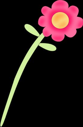 Pink Rose clipart stalk Flower Art Flower Pink Clip