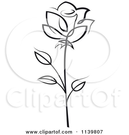White Rose clipart simple #4