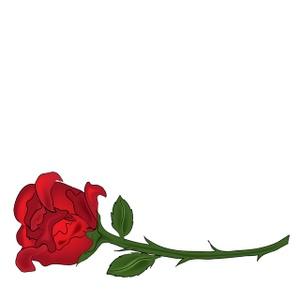 Rose clipart long stem rose #8