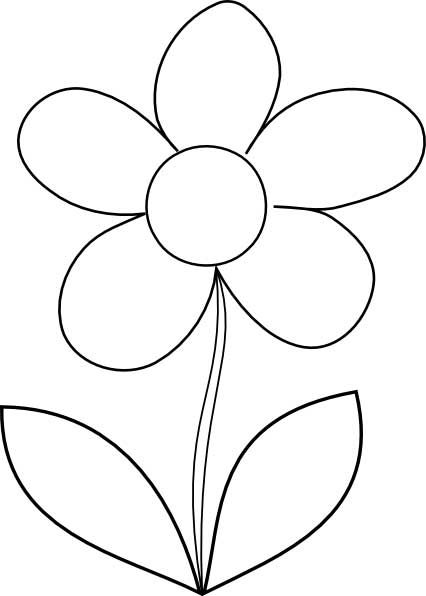 Color clipart colourful flower Coloring Pinterest 25+ brought outline