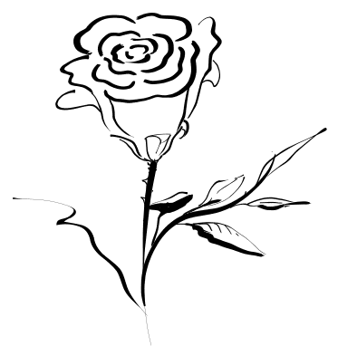 Red Flower clipart outline #9