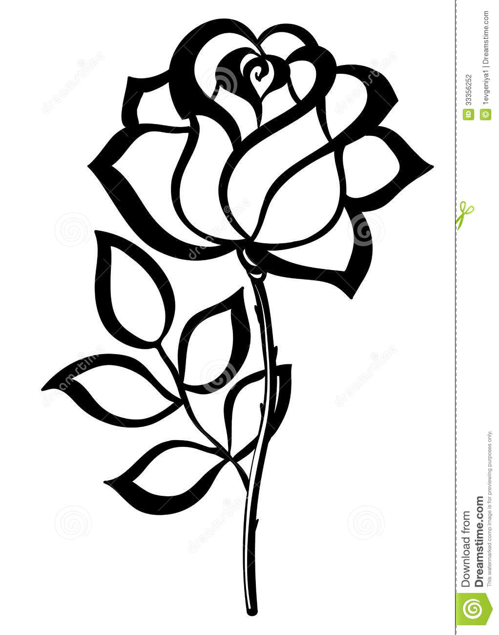 White Rose clipart silhouette  silhouette simple rose rose