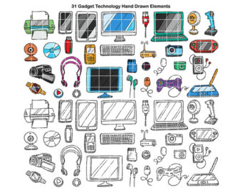 Technology clipart the classroom clipart Clipart by Doodled School Clip