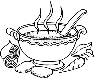 Stew clipart black and white Of Stock Soup Black Clipart