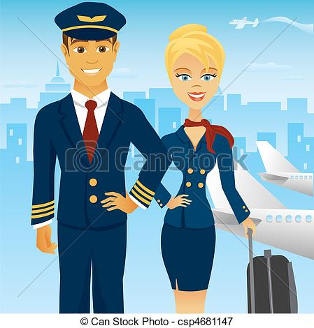 Steward clipart airplane pilot A Graphics Clipart EPS in