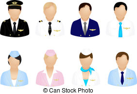 Steward clipart airplane pilot Set Graphics Clipart EPS Icons