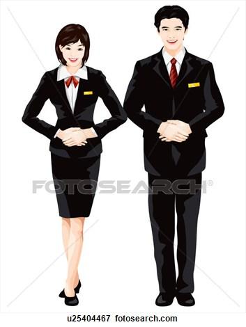 Steward clipart Airline  Worker Clipart