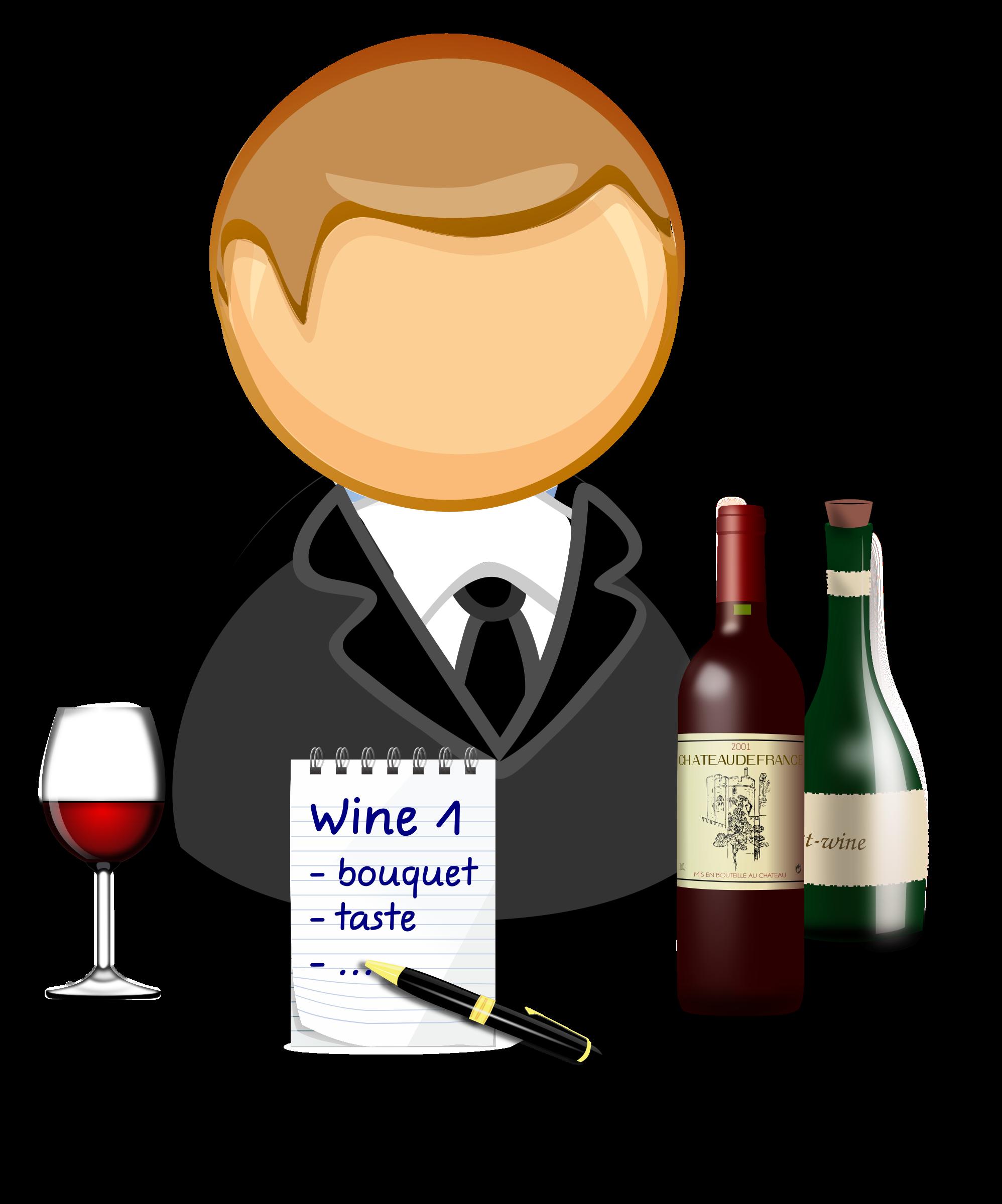 Steward clipart / steward Sommelier wine /