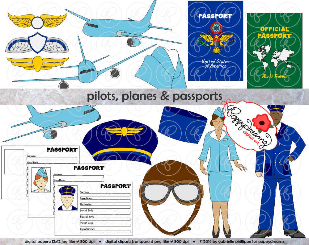 Steward clipart airplane pilot File transparent (300 Passports: is