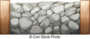 Stone Wall clipart fortress Csp15025726 Search Stone Illustration Vector