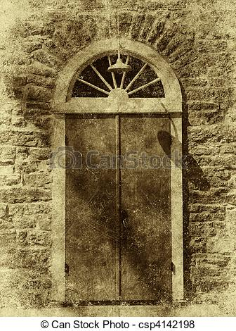 Stone Wall clipart antique Arched Style door Pictures An