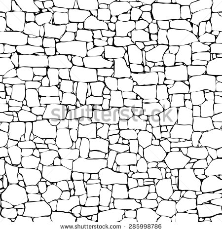 Stone Wall clipart And Stone white drawing clipart