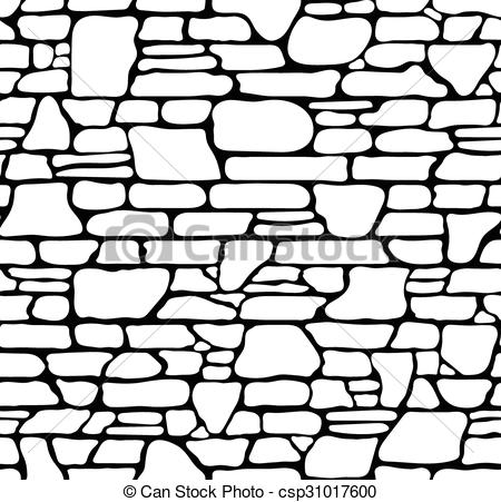 Stone Wall clipart black and white Texture of Seamless Seamless Seamless