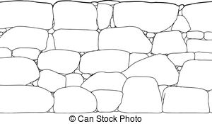 Stone Wall clipart  of Rock Stone A
