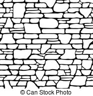 Stone Wall clipart black and white Stonewall Stonewall Stone  Illustrations