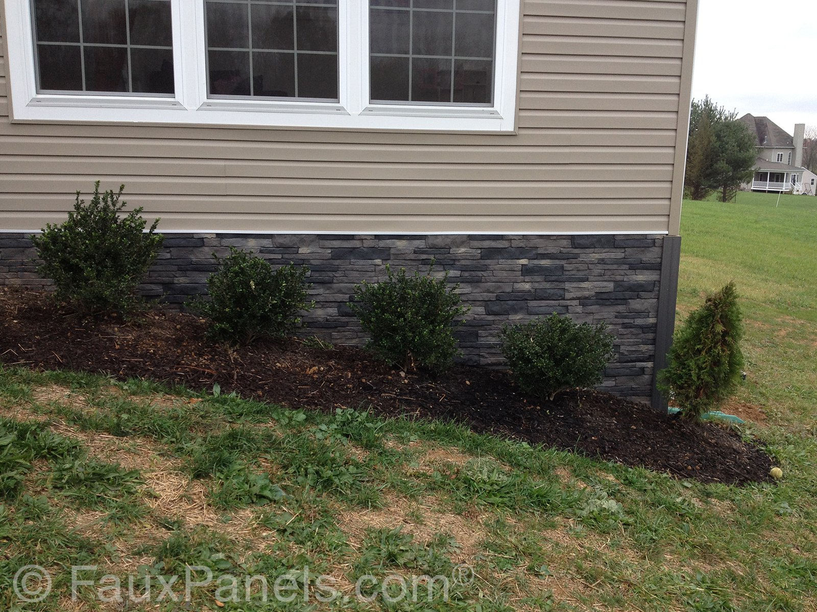 Stone Wall clipart brick foundation Faux Foundation Curb Home Panels