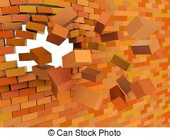 Brick clipart broken brick  illustration Brick 3d Illustrations