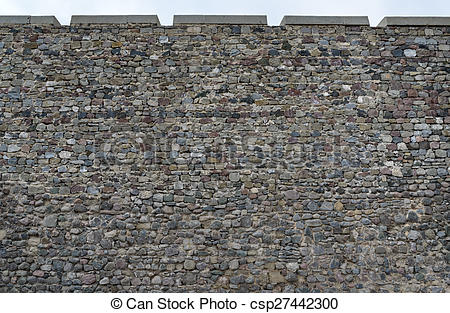 Stone Wall clipart fortress Of Illustration of old wall