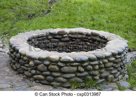 Stone Wall clipart stone well Surrounding Stone Well Photo well