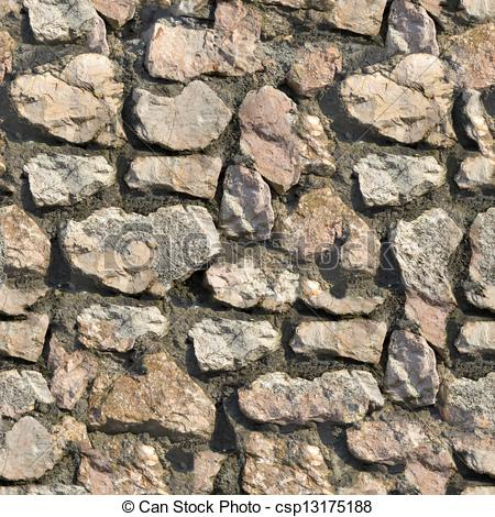 Stone Wall clipart tileable Texture Stone Wall Illustration Stock