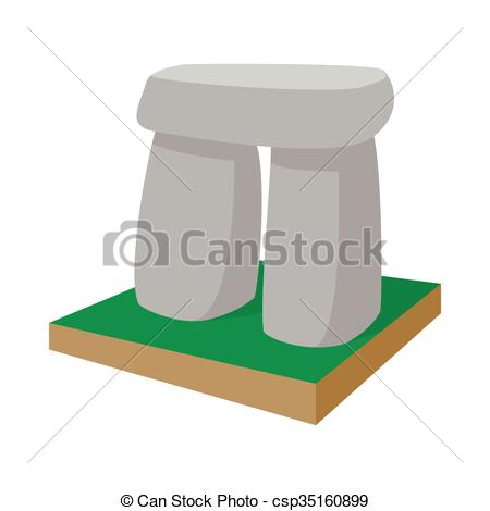 Stonehenge clipart cartoon Background style icon of a